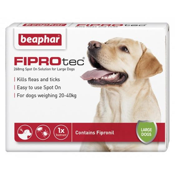 Beaphar Flea & Tick Spot On Fiprotec (Fipronil) For Large Dogs