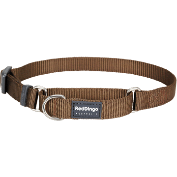 Red Dingo Classic Brown Martingale Half Check Collar