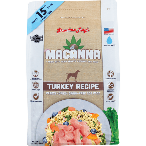 <b>10% OFF:</b> Grandma Lucy's Macanna Freeze Dried Turkey Dog Food