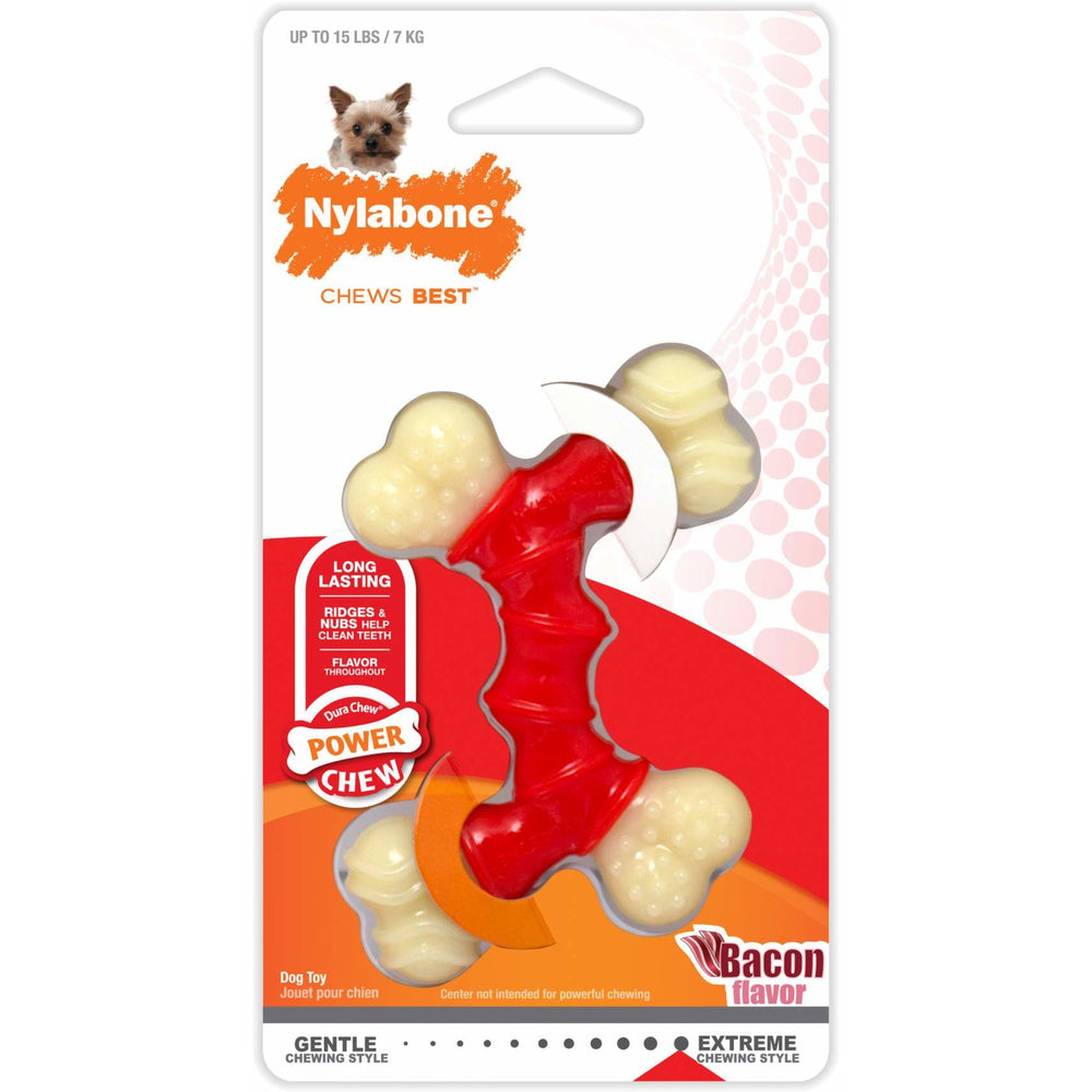 Nylabone Dura Chew Double Bone Bacon Toy