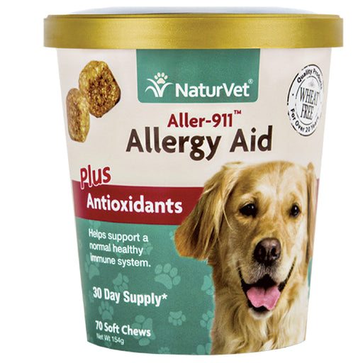 <b>20% OFF:</b> NaturVet Aller-911® Allergy Aid Plus Antioxidant Soft Chews