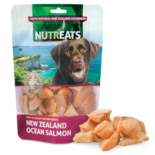 Nutreats Freeze Dried New Zealand Ocean Salmon For Dogs