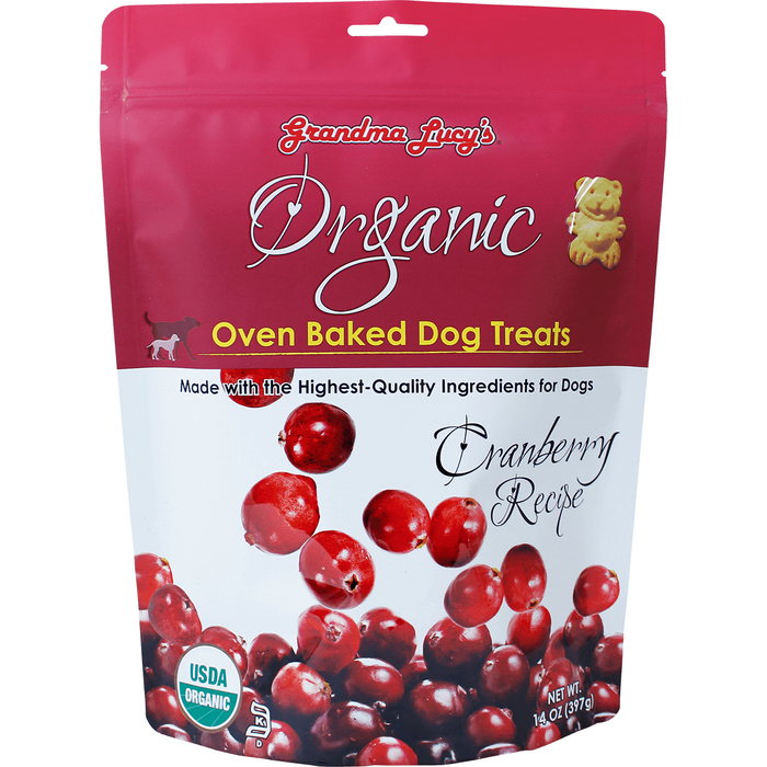 <b>10% OFF:</b> Grandma Lucy's Oven Baked Organic Cranberry Dog Treats