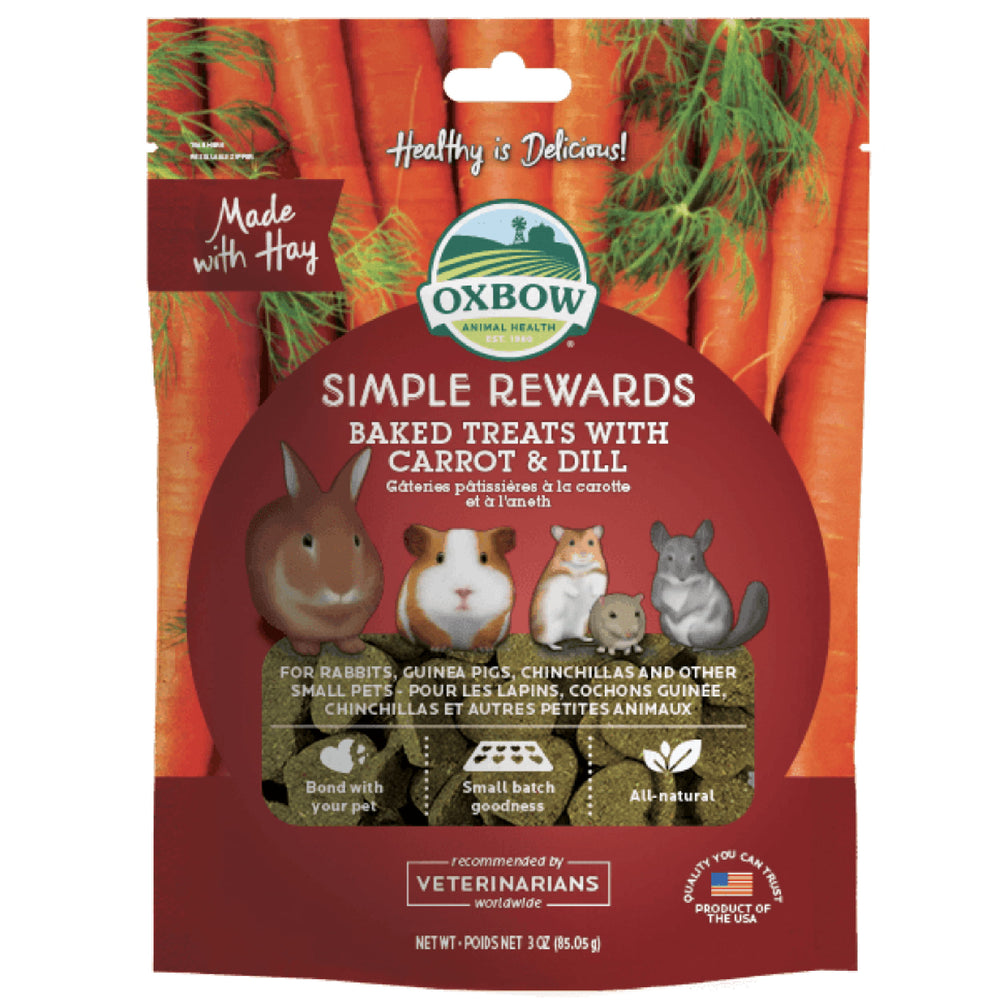<b>5% OFF:</b> Oxbow Simple Rewards Natural Baked Treats With Carrot & Dill