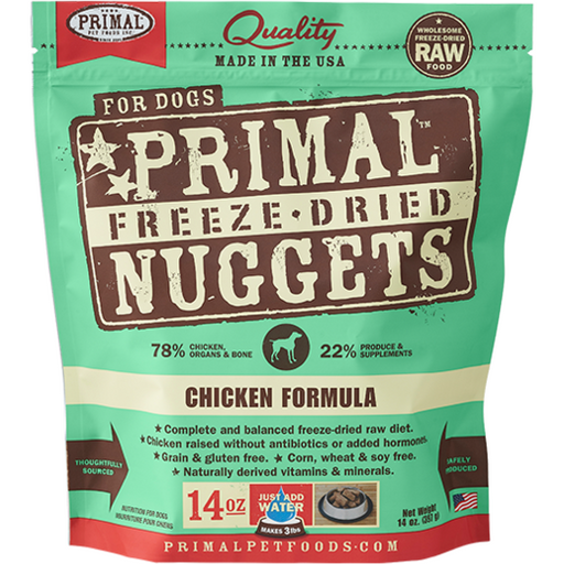 <b>2 FOR $88/4 FOR $159.90: </b> Primal Freeze Dried Chicken Formula Nuggets (14oz)