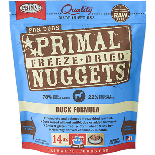 <b>2 FOR $99: </b> Primal Freeze Dried Duck Formula Nuggets (14oz)