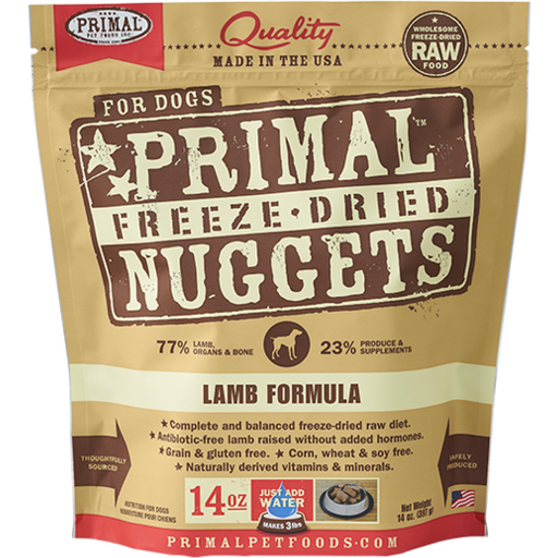 <b>2 FOR $88/4 FOR $159.90: </b> Primal Freeze Dried Lamb Formula Nuggets (14oz)