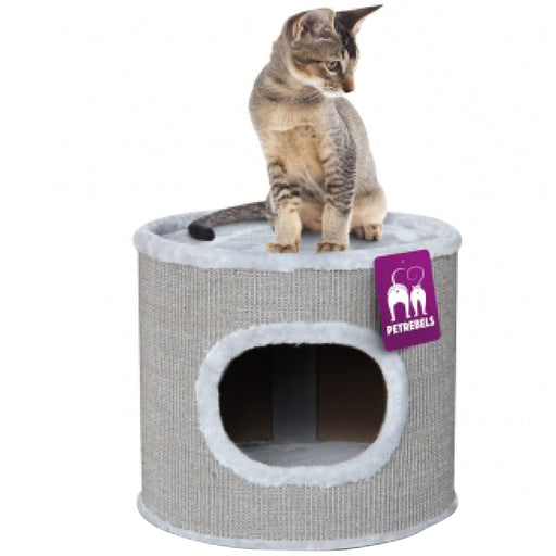 <b>15% OFF:</b> PetRebels Scratching Barrel Dome 40 Grey Cat Tree