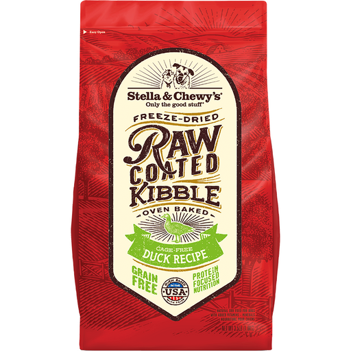 <b>15% OFF + FREE TREATS: </b> Stella & Chewy Raw Coated Cage-Free Duck Recipe Baked Adult Dry Dog Food