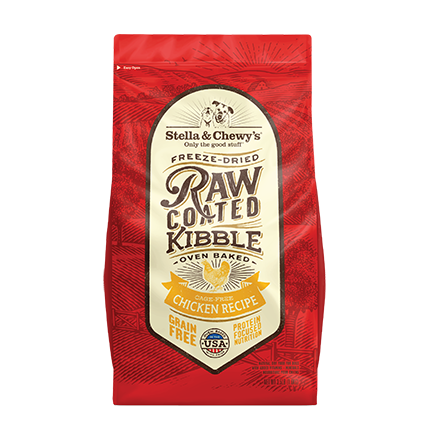 <b>15% OFF: </b> Stella & Chewy's Raw Coated Cage-Free Chicken Recipe Baked Adult Dry Dog Food