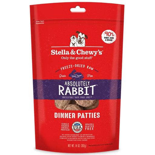 Stella & Chewy's Freeze-Dried Raw Absolutely Rabbit Dinner Patties