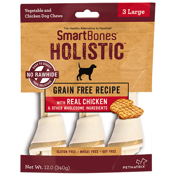 <b>10% OFF:</b> SmartBones Large Classic Holistic Grain Free Chicken Chew Treats (3Pcs)