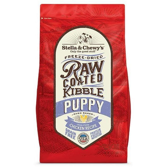 <b>15% OFF + FREE WET FOOD: </b> Stella & Chewy's Raw Coated Cage-Free Chicken Recipe Baked Puppy Dry Dog Food