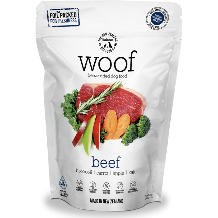<b>30% OFF:</b> The NZ Natural Pet Food Co. Woof Freeze Dried Raw Beef Dog Food
