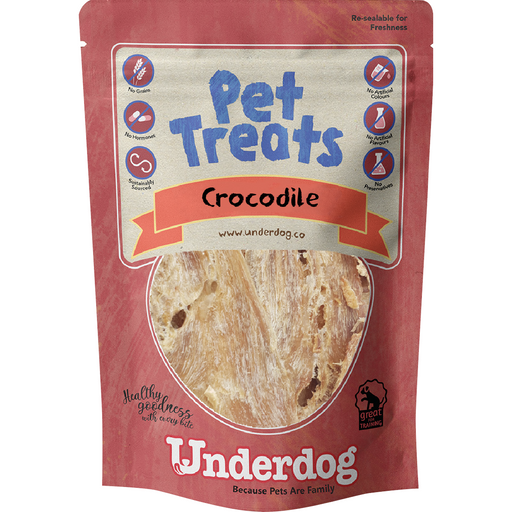 Underdog Crocodile Jerky For Dogs