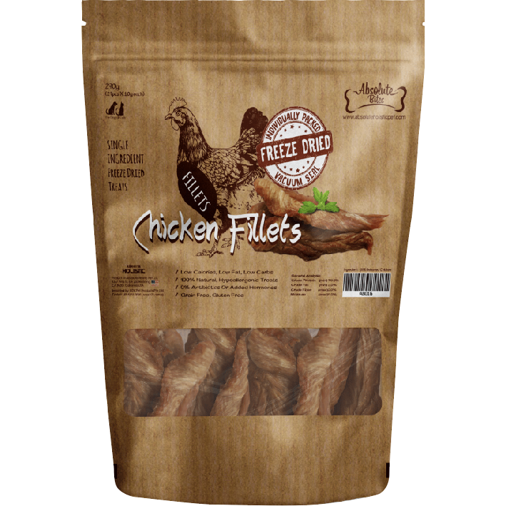 Absolute Bites Freeze Dried Chicken Fillets