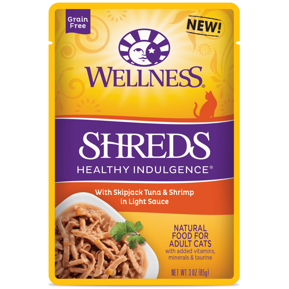 Wellness Healthy Indulgence Grain Free Slices Tuna & Shrimp Wet Cat Food