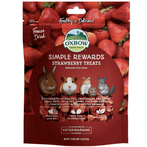 <b>5% OFF:</b> Oxbow Simple Rewards Strawberry Biscuits