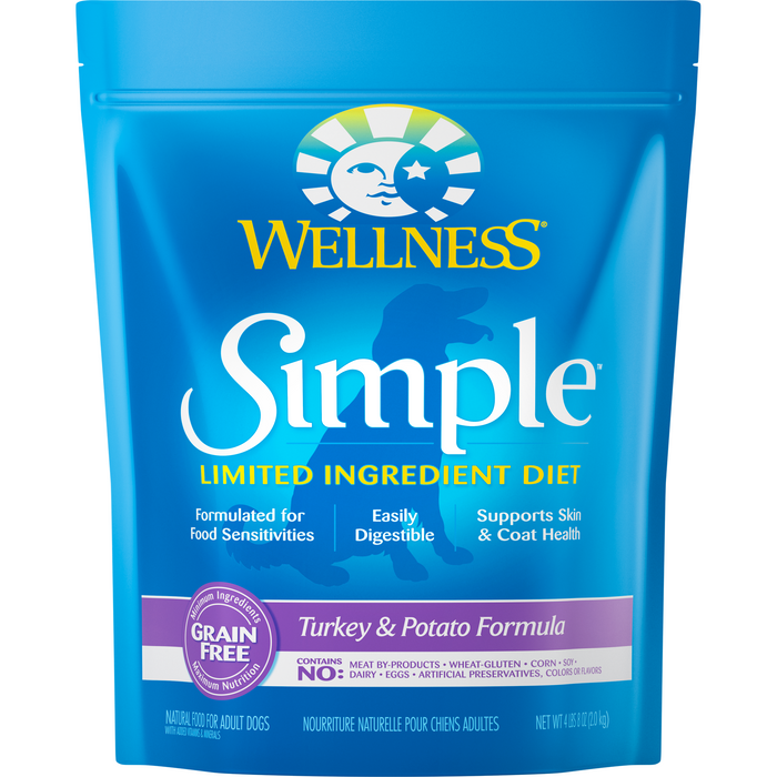 <b>20% OFF: </b> Wellness Simple Limited Ingredient Grain Free Turkey & Potato Formula Adult Dry Dog Food