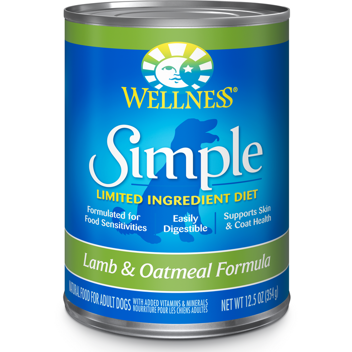 <b>20% OFF:</b> Wellness Simple Solution Limited Ingredient Lamb & Oatmeal Wet Dog Food