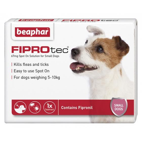 Beaphar Flea & Tick Spot On Fiprotec (Fipronil) For Small Dogs