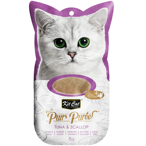 Kit Cat Purr Puree Grain Free Tuna & Scallop Cat Treats