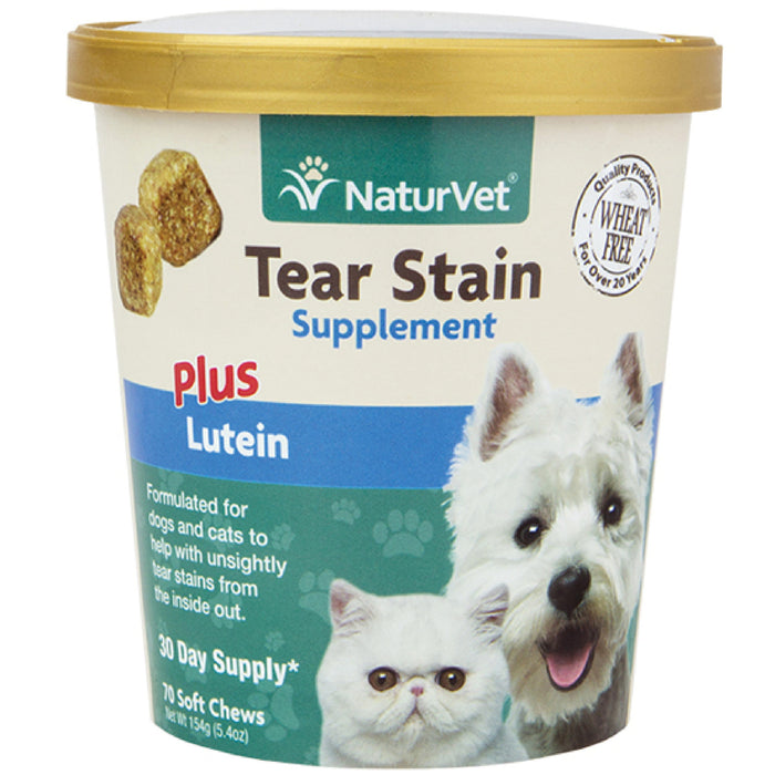 <b>20% OFF:</b> NaturVet Tear Stain Supplement Plus Lutein Soft Chews