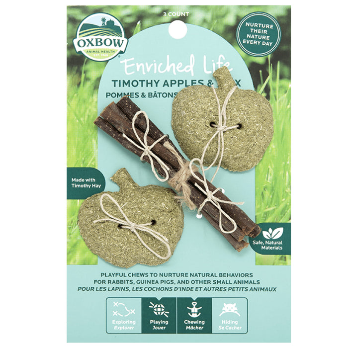 <b>20% OFF:</b> Oxbow Enriched Life Natural Chews Timothy Apples & Stix