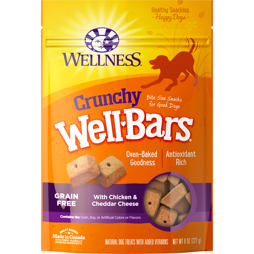 <b>10% OFF: </b> Wellness Well Bars Grain Free Oven-Baked Crunchy Chicken & Cheddar Biscuits