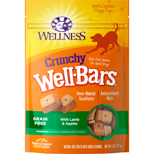 <b>10% OFF:</b> Wellness Well Bars Grain Free Oven-Baked Crunchy Lamb & Apples Biscuits
