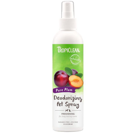 <b>15% OFF:</b> TropiClean Pure Plum Deodorizing Pet Spray