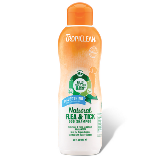 <b>10% OFF:</b> TropiClean Natural Flea & Tick Soothing Shampoo