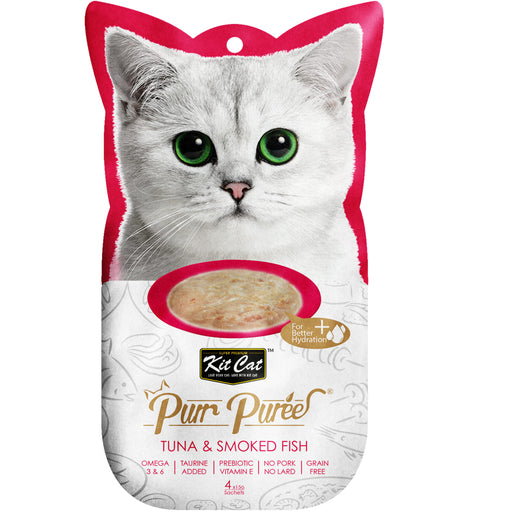 Kit Cat Purr Puree Grain Free Tuna & Smoked Fish Cat Treats
