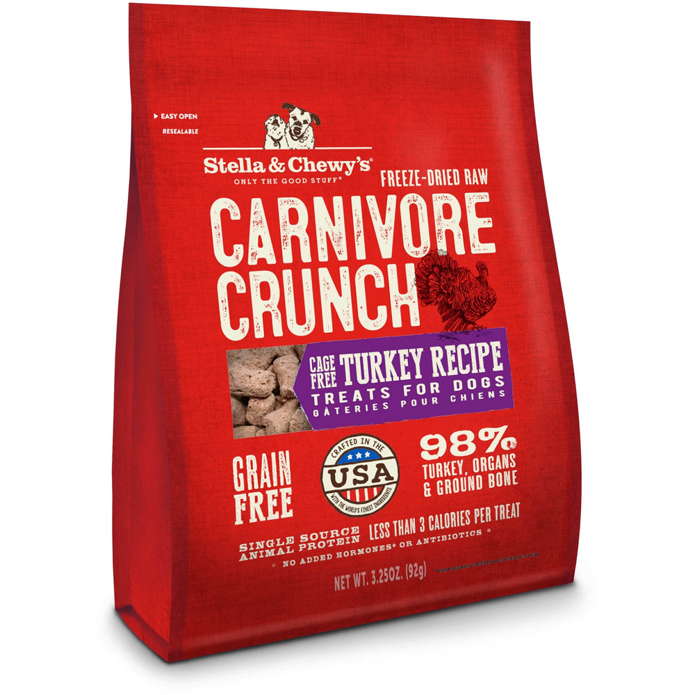 Stella & Chewy's Freeze-Dried Raw Carnivore Crunch Cage-Free Turkey Recipe For Dogs