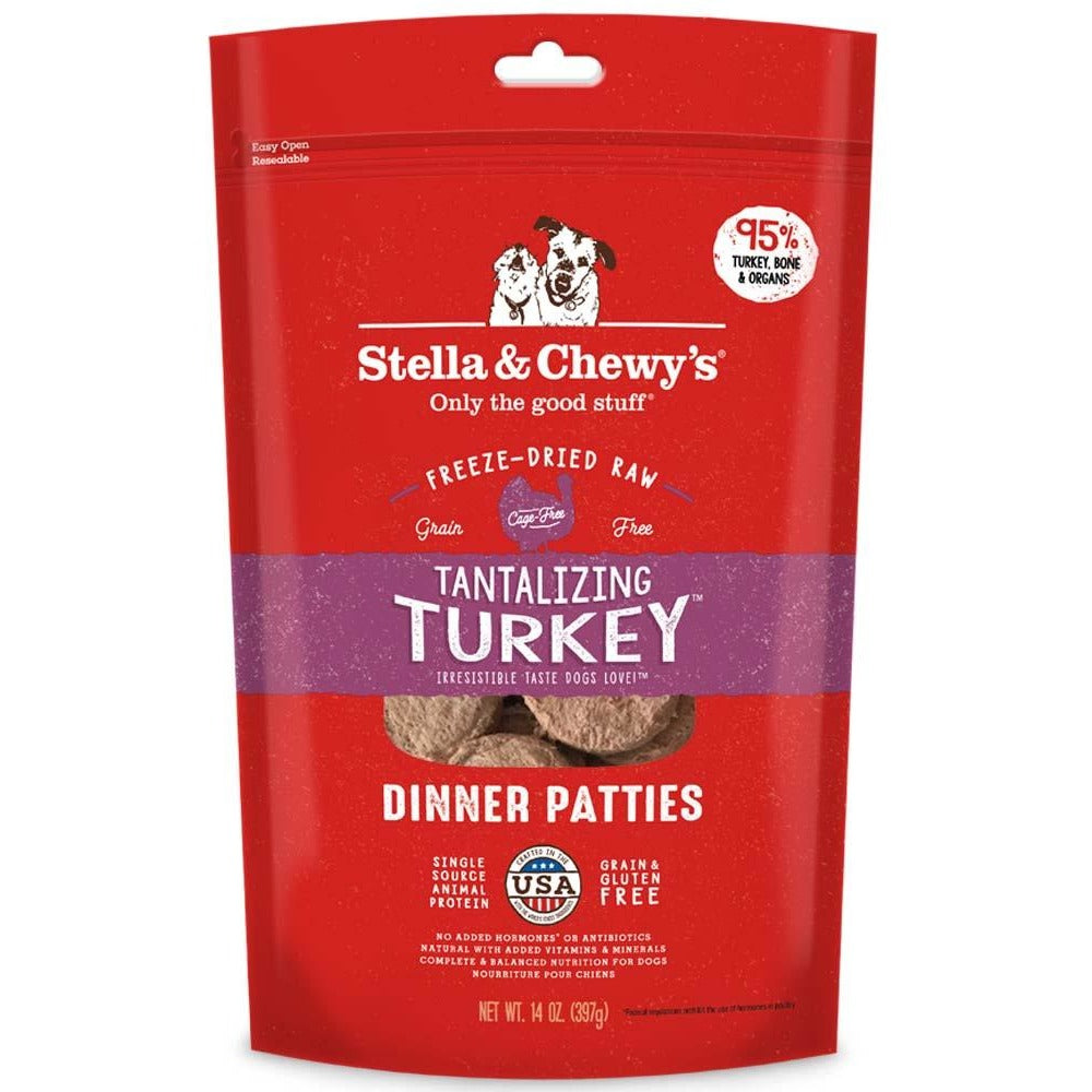 Stella & Chewy's Freeze-Dried Raw Tantalizing Turkey Dinner Patties For Dogs