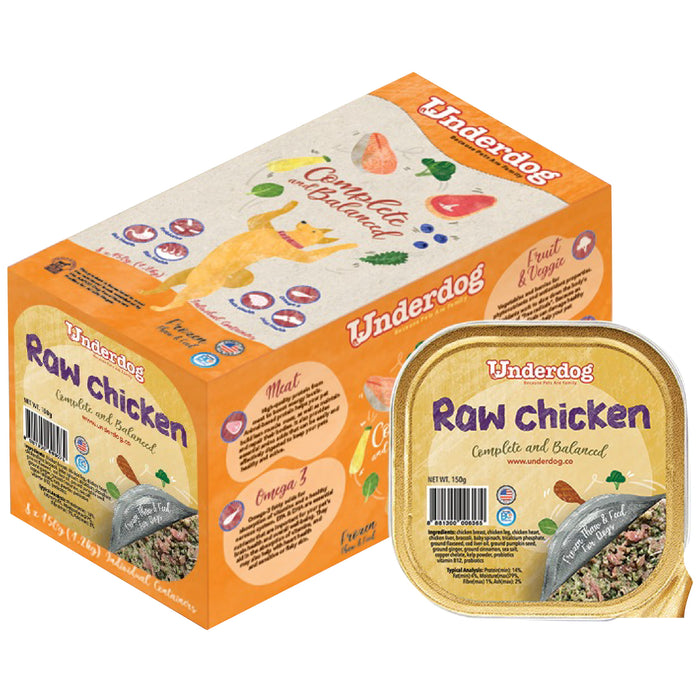 Underdog Complete & Balanced Raw Chicken Recipe For Dogs (<b>FROZEN</b>)