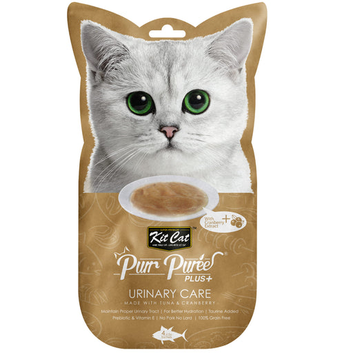 Kit Cat Purr Puree Plus+ Grain Free Tuna & Cranberry (Urinary Care) Cat Treats
