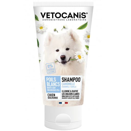 Vetocanis White & Light-Coloured Coat With Camomile Shampoo For Dogs