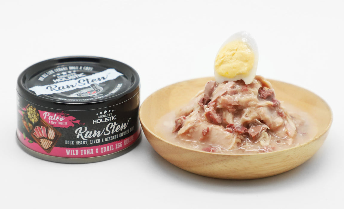 [LAUNCH PROMO] <b>25% OFF:</b> Absolute Holistic Grain Free Wild Tuna & Quail Egg Recipe With Duck Heart, Liver & Gizzard Infused Diet Raw Stew