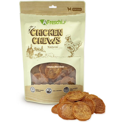 Afreschi Chicken Circle Fillet Chews For Dogs