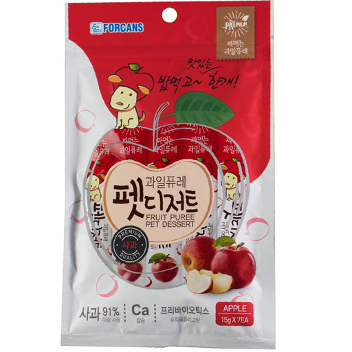 <b>10% OFF:</b> Forcans Fruit Puree Apple Creamy Treats For Dogs