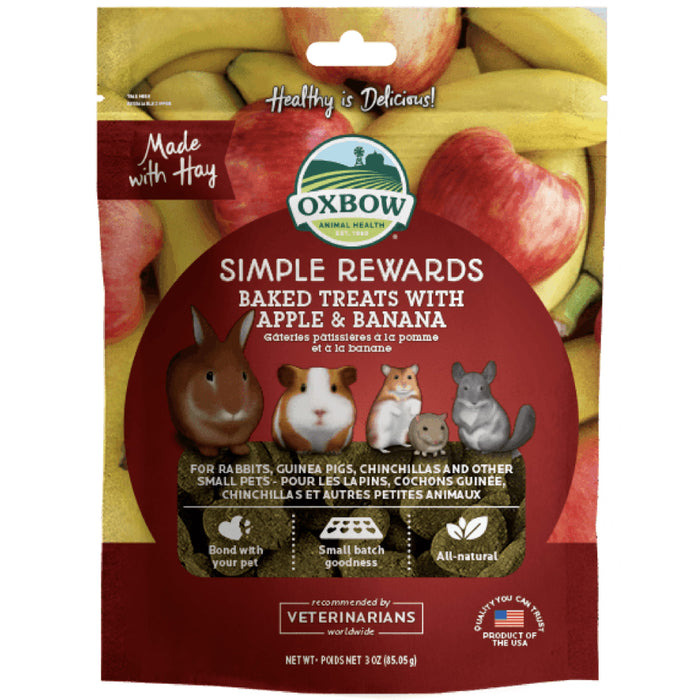 <b>5% OFF:</b> Oxbow Simple Rewards Natural Baked Treats With Apple & Banana