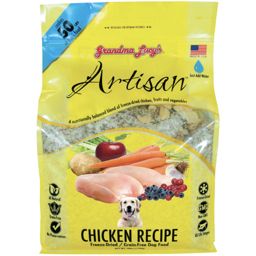 <b>10% OFF:</b> Grandma Lucy's Artisan Freeze Dried Chicken Dog Food