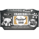 <b>BUY 1 FREE 1: </b> Absolute Absorb Plus Charcoal Coconut Scented Anti Bacteria Pet Wipes