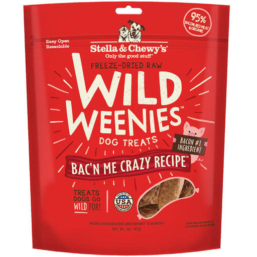 Stella & Chewy's Freeze Dried Raw Wild Weenies Bac'n Me Crazy Recipe Dog Treats