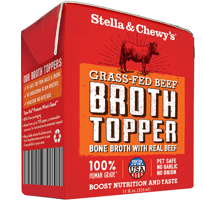 Stella & Chewy's Grain Free Grass-Fed Beef Broth Topper For Dogs