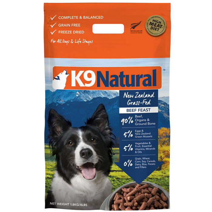 <b>20% OFF:</b> K9 Natural Freeze Dried Raw Beef Feast