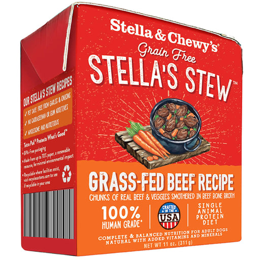 Stella & Chewy's Grain Free Grass-Fed Beef Stew Recipe For Dogs