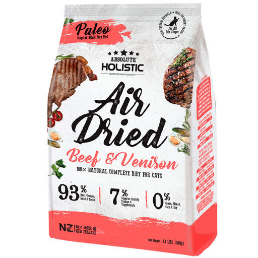 <b>15% OFF:</b> Absolute Holistic Air Dried Beef & Venison Dry Cat Food