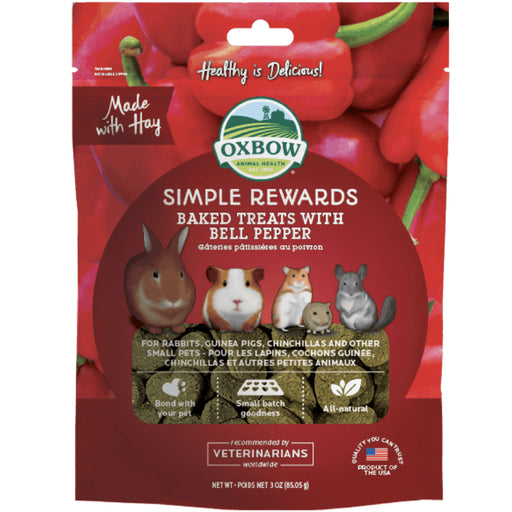 <b>5% OFF:</b> Oxbow Simple Rewards Natural Baked Treats With Bell Pepper
